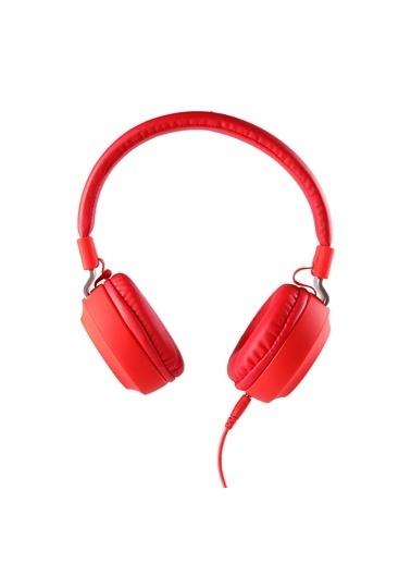 MF Product MF Product Acoustic 0102 Mikrofonlu Kablolu Kulak Üstü Kulaklık Kırmızı